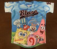 Rare OT MiLB Bakersfield Blaze Nickelodeon SpongeBob SquarePants Jersey