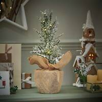 40cm Pre Lit LED Light Up Table Christmas Fir Tree Decoration | Home Indoor