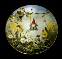 Vintage Plate Gnome de Bloom by Risen Poortvliet