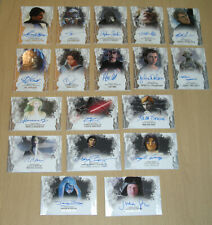 2017 Topps Star Wars Masterwork 18-card autograph auto lot