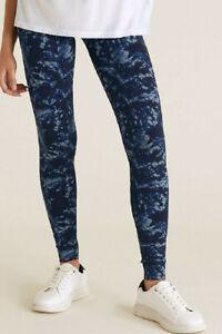 Ladies M&S Jersey Tie Dye High Wasted Leggings Size 6-18 RRP £12.50 LTAug11-2