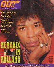 MAGAZINE OOR 1987 nr. 07 - JIMI HENDRIX IN HOLLAND / SCORPIONS / TEST DEPARTMENT