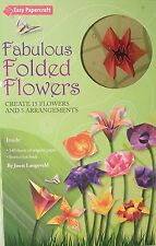 Fabulous Folded Flowers Origami Book Kit NEW art paper craft asian oriental set