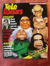 ▬►Télé Loisirs 157/1989 Bebete Show_Bernard Lavilliers_Clark Gable_Chantal Goya