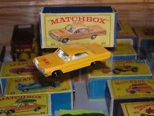 VINTAGE MATCHBOX LESNEY #20C-6 CHEVROLET IMPALA TAXI IN BOX