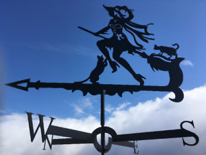 WITCH 1 Metal Plasmacut Wind Direction Roof Decor