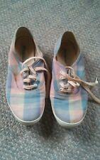000 Vintage Aigner Deck Flat Shoes Plaid Size 7
