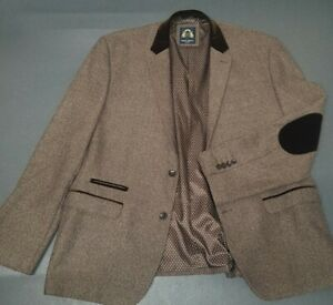"""MARC DARCY LONDON RONNY MENS SMART ELBOW PATCHES TWEEDY JACKET SIZE 50""""CHEST"""