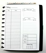 Big Happy Planner Daily Inserts, Big Hourly Planner, Big Happy Daily Schedule