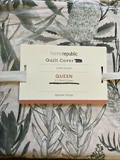 Home Republic Native Floral Green Quilt Cover Queen Size