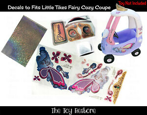 Decals Replacement Stickers fits Little Tikes Tykes Fairy Cozy Coupe 30th DIY Sp