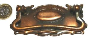 COPPERED STEEL ANTIQUE CHEST/DRAWER/DOOR PULL HANDLE ART NOUVEAU/CRAFTS