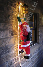 NEW 90cm Santa Climbing LIGHT UP Rope Ladder Outdoor Christmas Decoration SCLL-3