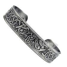 Accents Kingdom Mens Silver Phoenix Magnetic Therapy Celtic Copper Cuff Bracelet