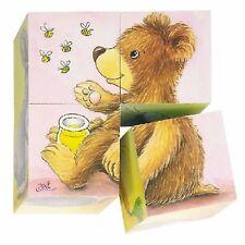 """Foto in legno Cubo Puzzle """"Baby Animali"""" Design"""
