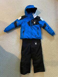 Boys Spyder Mini Leader Jacket w/ Mini Expedition Bibs Size 4