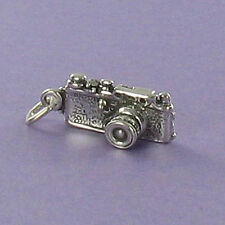 Camera 35mm Charm Sterling Silver 925 for Bracelet or Necklace SLR Photography