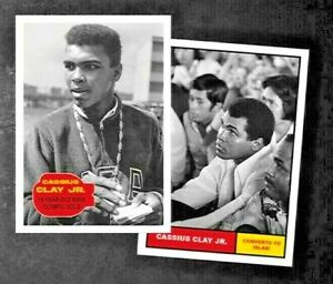 2021 Topps MUHAMMAD ALI - The People's Champ 2-Card Bundle - Cards #1-2