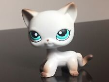 Littlest Pet Shop #391 Cat  LPS Short Hair Egyptian Grey Blue Eyes USA Seller