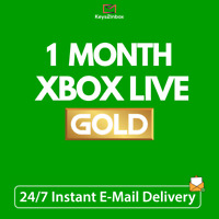Xbox Live Gold 1 Month Gold Membership Code Xbox One - Xbox 360 - INSTANT