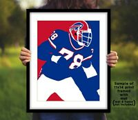 BRUCE SMITH Buffalo Bills Photo Art in 8x10 or 11x14 - Football Picture Print