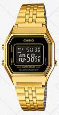 Casio LA680WGA-1B Ladies Gold Tone Digital Watch Mid-Size Retro Vintage New