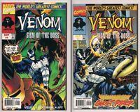 Venom: Sign of the Boss #1 & #2 Complete Set Ghost Rider vs Venom Marvel 1997