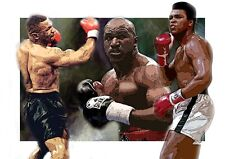 MIKE TYSON AND ALI,  CANVAS PRINTS  A3