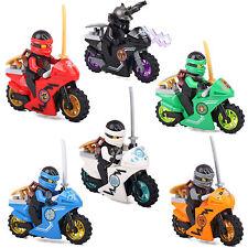 6 Minifigures Ninja Ninjago Jay Cole Lloyd Kai Zane Lord Building Bricks lEGO
