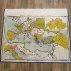 VTG 1963 Denoyer Geppert Social Sciences Classroom Map H7 Europe in 1360