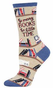 NEW Womens Ladies Fun Novelty Socks So Many Books on Hemp - Sock Size 9-11