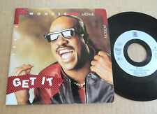 "DISQUE 45T DE STEVIE WONDER / MICHAEL JACKSON  "" GET IT """