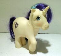 Vintage My Little Pony G1 Unicorn Glory White Purple MLP