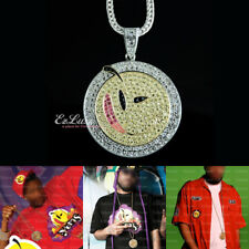 SOULJA BOY Yums Smiley Pendant Iced Out hip hop Necklace bling Smile unisex