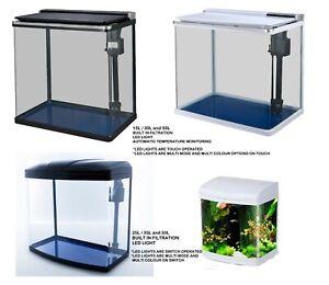 15L/ 20L/ 30L /35L /50L Aquarium Fish Tank Nano Tropical Coldwater LED Lighting