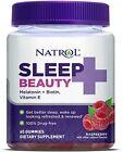 Natrol Sleep Beauty Gummies Melatonin, Biotin, Vitamin E 60 Gummies Exp. 1/2023