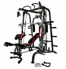 Smith Machine & Bench Combo Cable Cross Chin Up Seated Row & Accesories