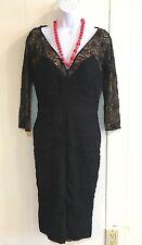 Tadashi Collection Dress Back Lace 8 New