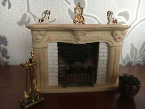 Dolls House Emporium 1/12th Scale Large Fire Place with accessories.