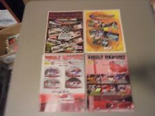 LOT OF 4 2000S WATERFORD SPEEDBOWL CONN. RACING PROGRAMS,NASCAR FEATHERLITES,MOD