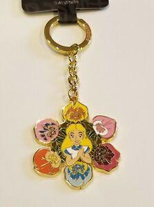 Loungefly Disney Alice In Wonderland Wildflowers Key Chain NEW