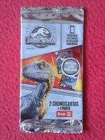 SOBRE DE CROMOS JURASSIC WORLD MUNDO JURÁSICO SUPERMERCADOS DIA PACKAGE OF CARDS