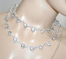 CINTURA GIOIELLO argento donna strass cristalli metallo cerimonia sposa A46