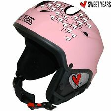 Casco da sci Snowboard bici con Cuffie integrate Mp3 Taglia S Sweet Years Rosa