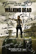 "THE Walking Dead poster foto firmata PP DA 19 prigione Norman Reedus 12x8"" Regalo"