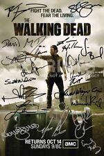 """The Walking Dead Poster Photo Signé PP par 19 prison Norman Reedus 12x8"""" Cadeau"""