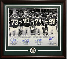 8d40fed1c NY Jets Sack Exchange signed 16x20 photo auto Klecko Lyons gastineau framed  JSA