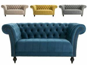Chesterfield Sofa Armchair Handmade 1.5 , 2 Or 3 Seater Settee Love Seat Velvet
