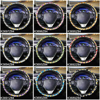 Daisy Floral Steering Wheel Cover for Women Auto Interior Universal Fit for Car
