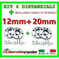 KIT 4 DISTANZIALI PER BMW X5 (E70 X70) 2007 - 2014 PROMEX ITALY 12 mm + 20 mm